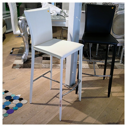 KARE - Barstool Milano white/brown -50%