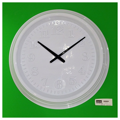KARE - Wall clock reflect white -30%