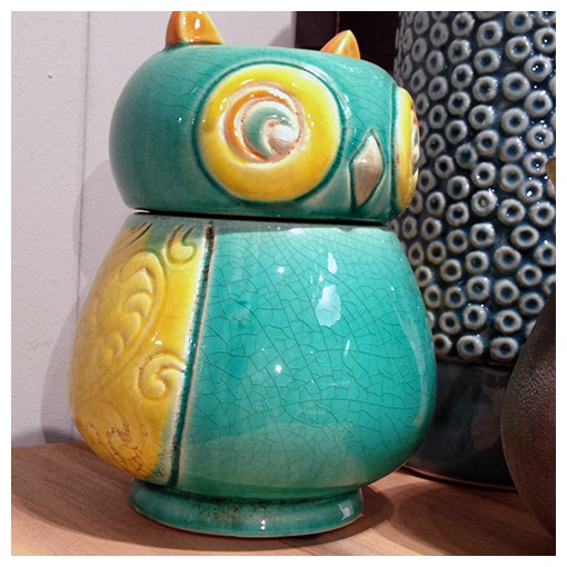 KARE - Deco Vase Owl Bugly Colore